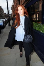 Lindsay Lohan Stills Out and About in London