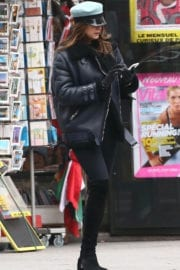 Lisa Snowdon Stills Out and About in Paris