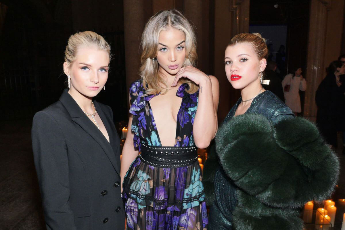 Lottie Moss, Jasmine Sanders and Sofia Richie Stills at Vogue Italia and Place Vendome Party in Milan