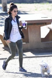 Lucy Hale Stills at the Dog Park in the Hollywood Hills of Los Angeles