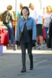 Lucy Hale Stills Shopping at a Flea Market in Los Angeles