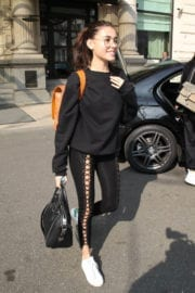 Madison Beer Stills at Airport in Milan