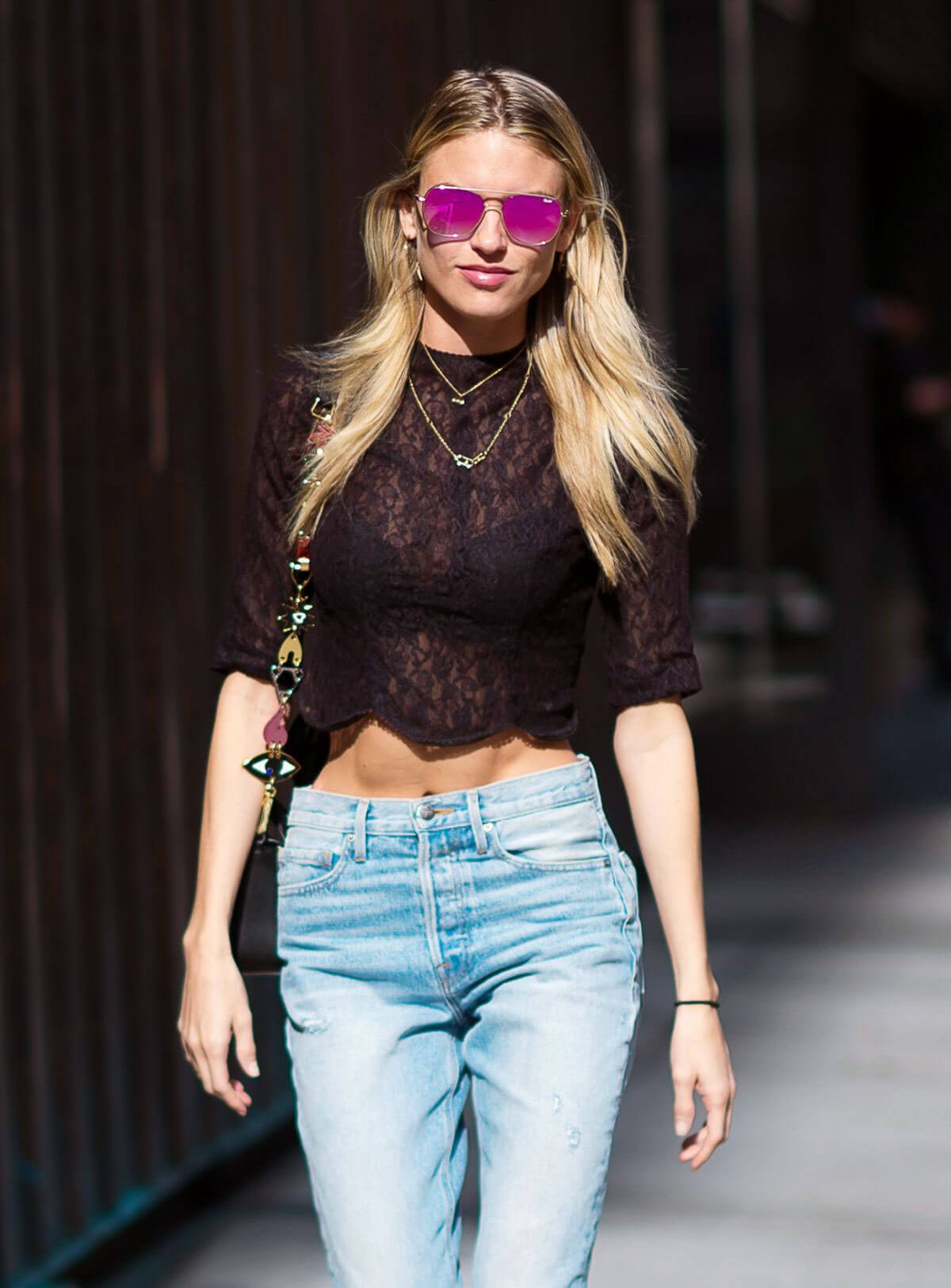 Martha Hunt in Jeans Out in New York