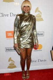Mary J. Blige Stills at Clive Davis Pre-grammy Party in Los Angeles