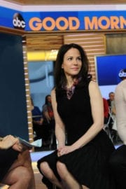 Mary-Louise Parker Stills on the Set of Good Morning America