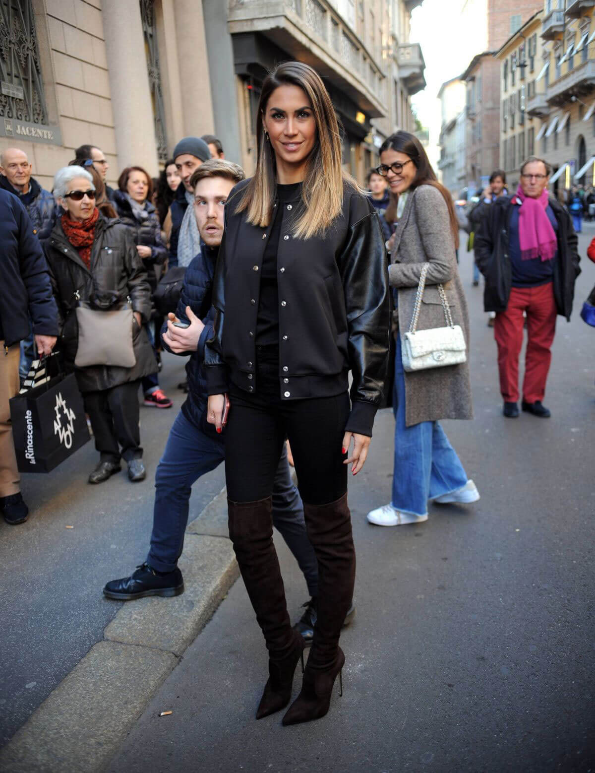 Melissa Satta Stills at a Fashion Show in Milan