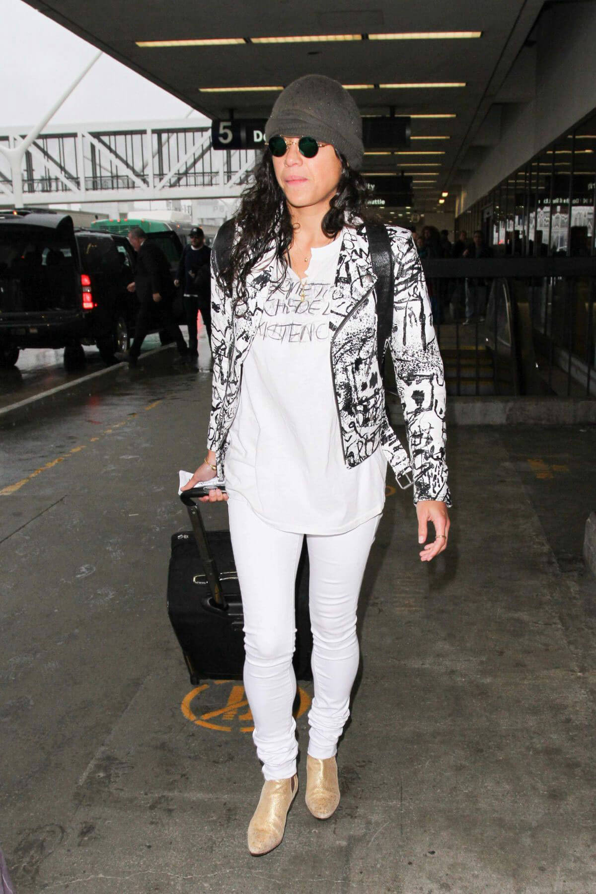 Michelle Rodriguez at LAX Airport in Los Angeles