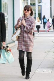Milla Jovovich Out Shopping in Beverly Hills