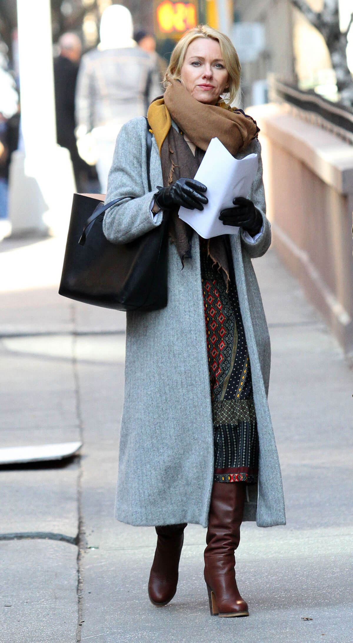 Naomi Watts on the Set of 'Gypsy' in New York