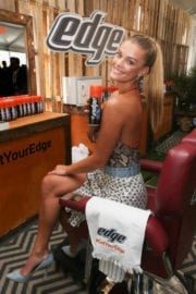 Nina Agdal Stills at Edge Shave Gel Event at SI Swimsuit Vibes Festival in Houston