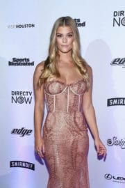 Nina Agdal Stills at Sports Illustrated Swimsuit Edition Launch in New York