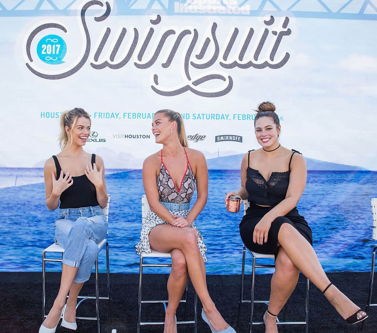 Nina Agdal Stills at VIBES by SI Swimsuit 2017 Launch Festival in Houston