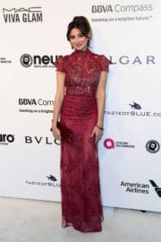 Noureen DeWulf Stils at 25th Annual Elton John Aids Foundation's Oscar Party in Hollywood