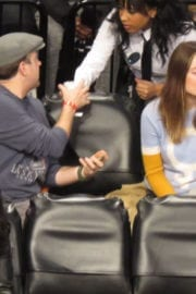 Olivia Wilde at Brooklyn Nets vs. Golden State Warriors Match in New York