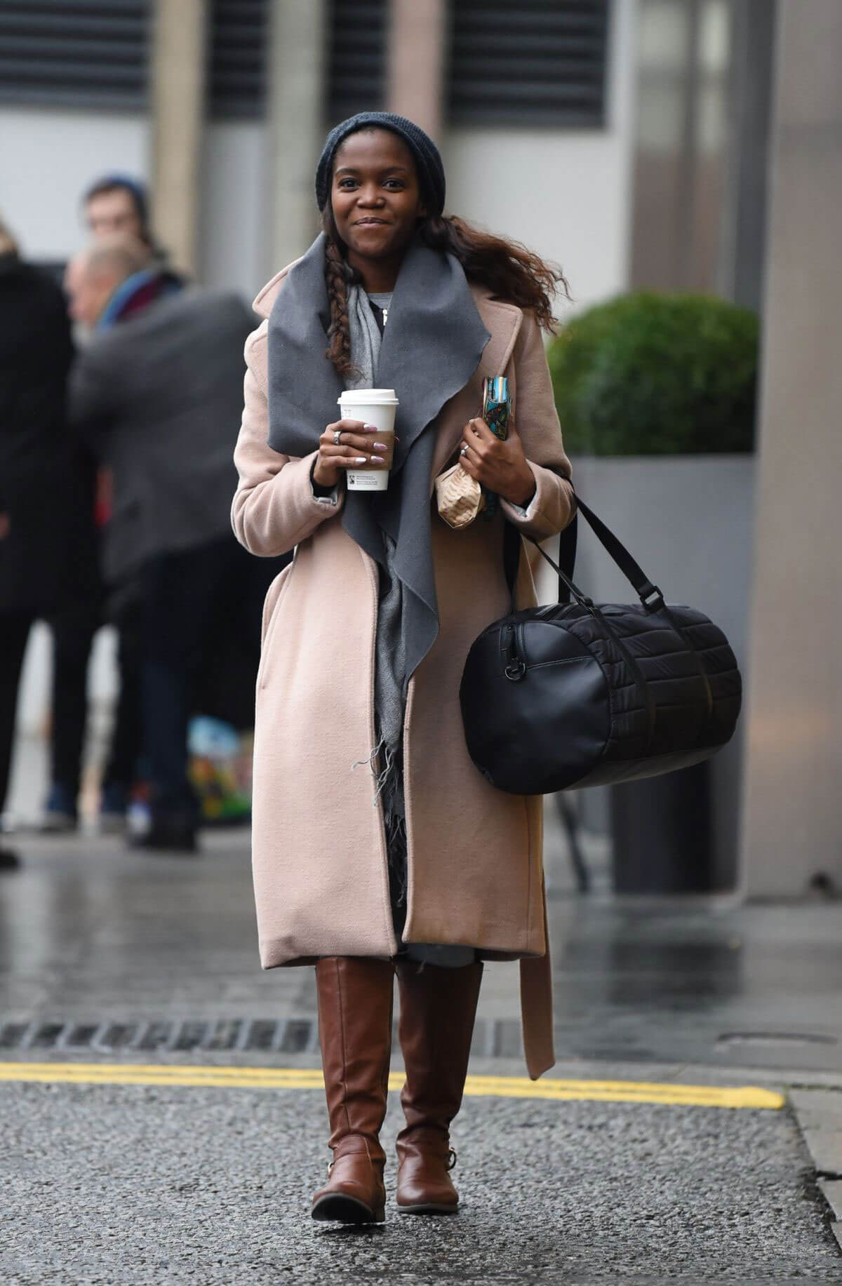 Oti Mabuse Leaves Her Hotel in Birmingham