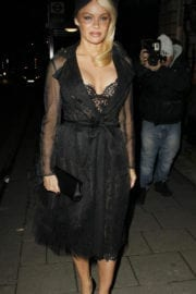 Pamela Anderson Arrives at Annabel's Private Members Club in London