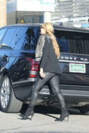 Paris Hilton Stills in Black Leather Out in Beverly Hills