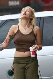 Paris Jackson Out for Coffee in Los Angeles