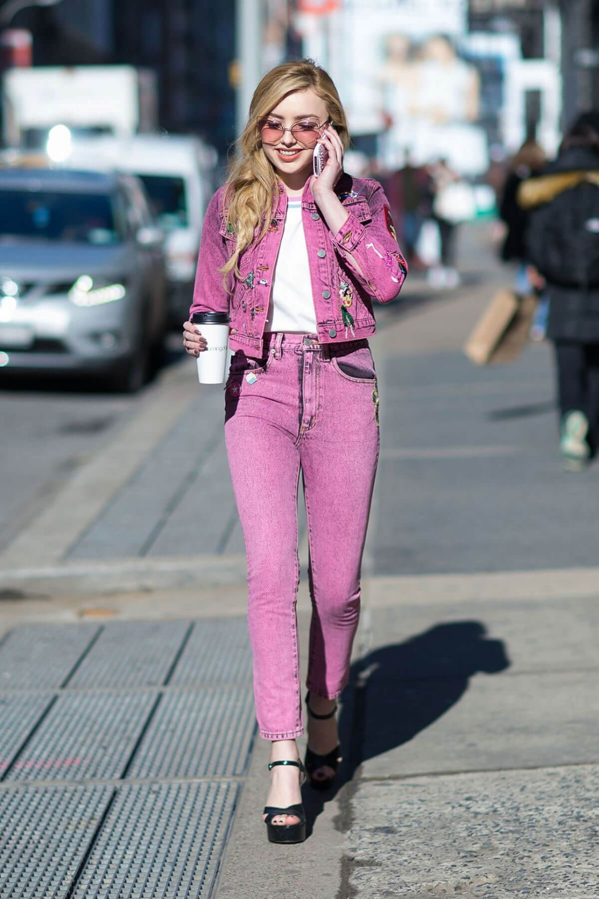 Peyton List Stills Out and About in New York