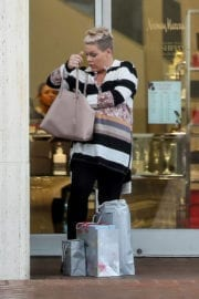 Pink Out For Christmas Shopping in Beverly Hills