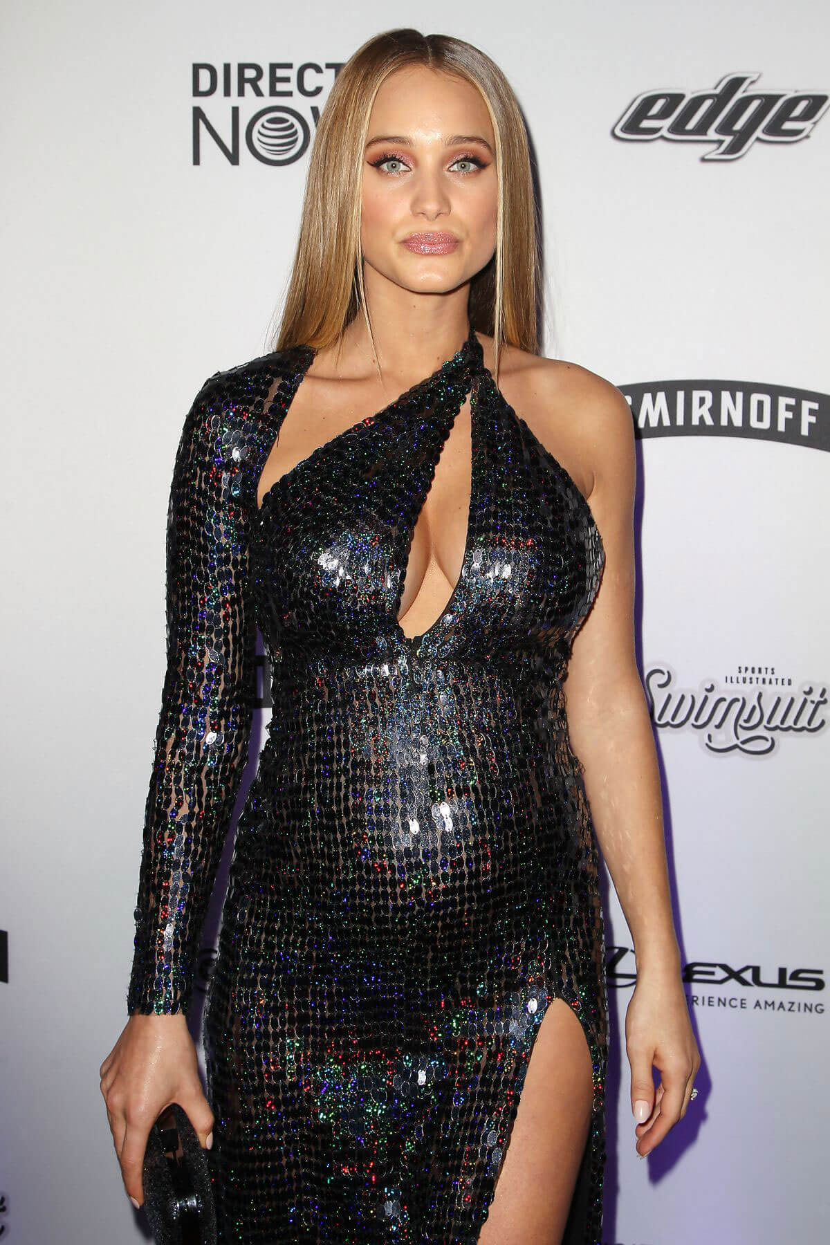 Pregnant Hannah Davis Stills at Sports Illustrated Swimsuit Edition Launch