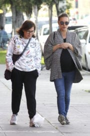 Pregnant Natalie Portman Stills Out for Lunch in Silverlake