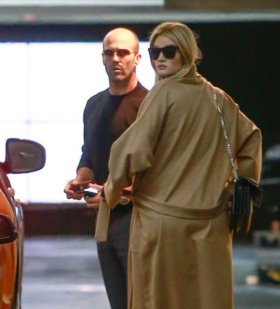 Pregnant Rosie Huntington-Whiteley and Jason Statham Stills Out for Lunch in Beverly Hills