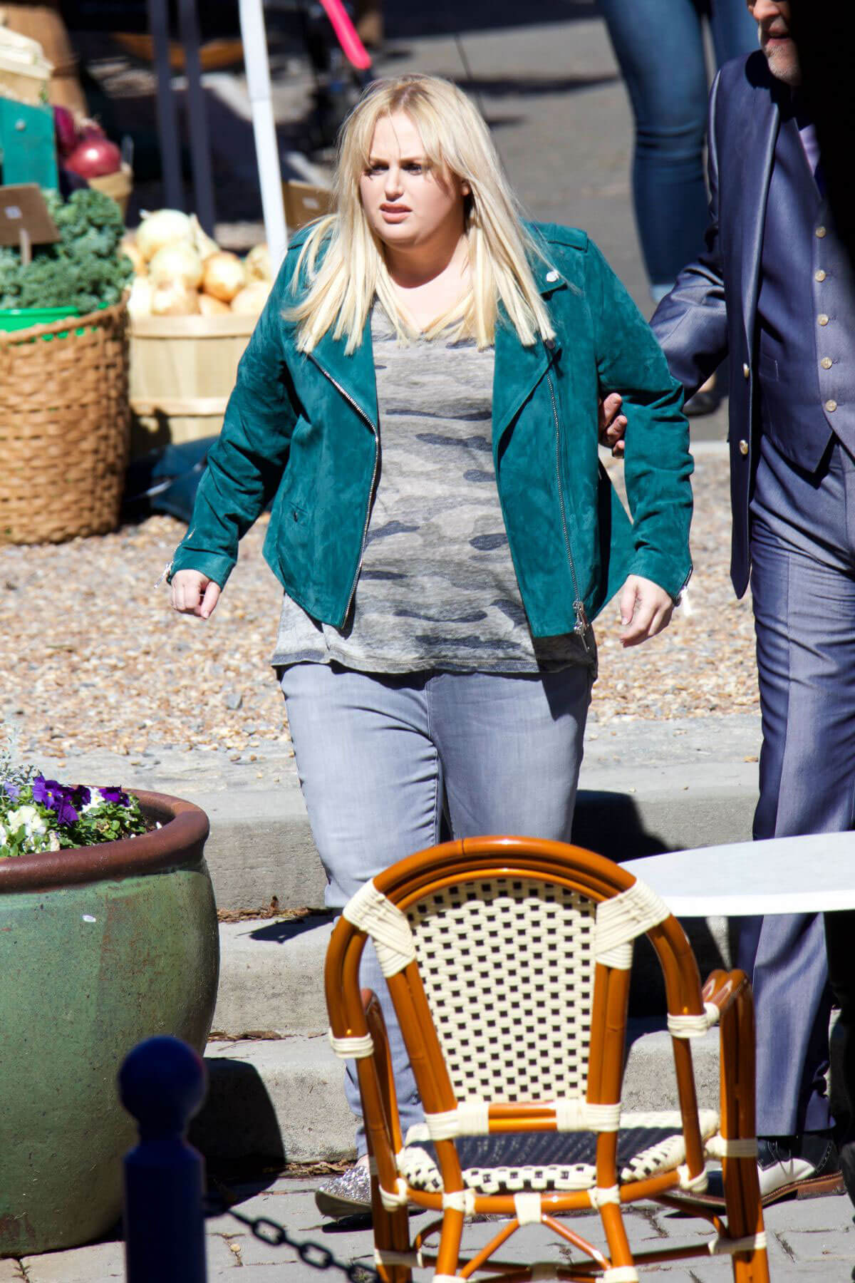 "Rebel Wilson Stills on the Set of ""Pitch Perfect 3"" in Atlanta"