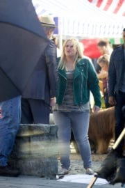 """Rebel Wilson Stills on the Set of """"Pitch Perfect 3"""" in Atlanta"""