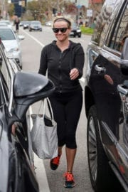 Reese Witherspoon Stills Leaves Yoga Class in Beverly Hills
