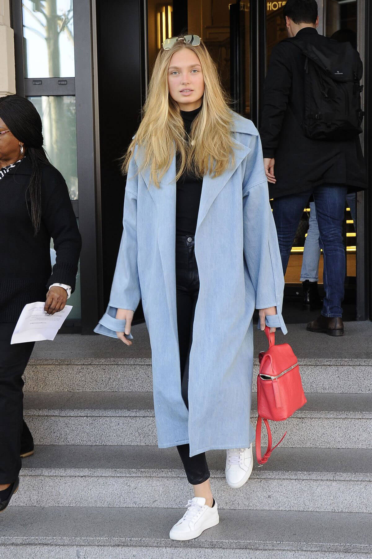 Romee Strijd Stills Out and About in Milan