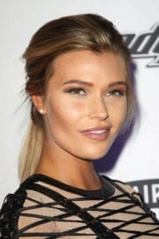 Samantha Hoopes Stills at Sports Illustrated Swimsuit Edition Launch in New York