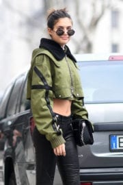 Sara Sampaio Stills Out and About in Milan
