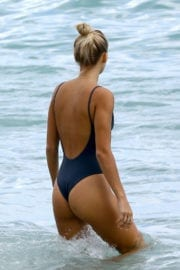 Selena Weber in Swimsuit at a Beach in Miami Photos