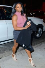 Simone Biles Arrives at Catch LA in West Hollywood