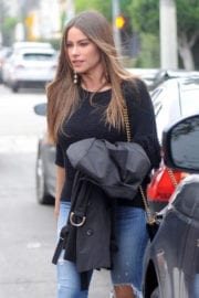 Sofía Vergara Stills in Ripped Jeans Out in West Hollywood