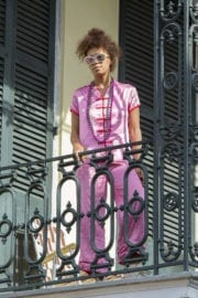 Solange Knowles Stills on a Balcony in New Orleans