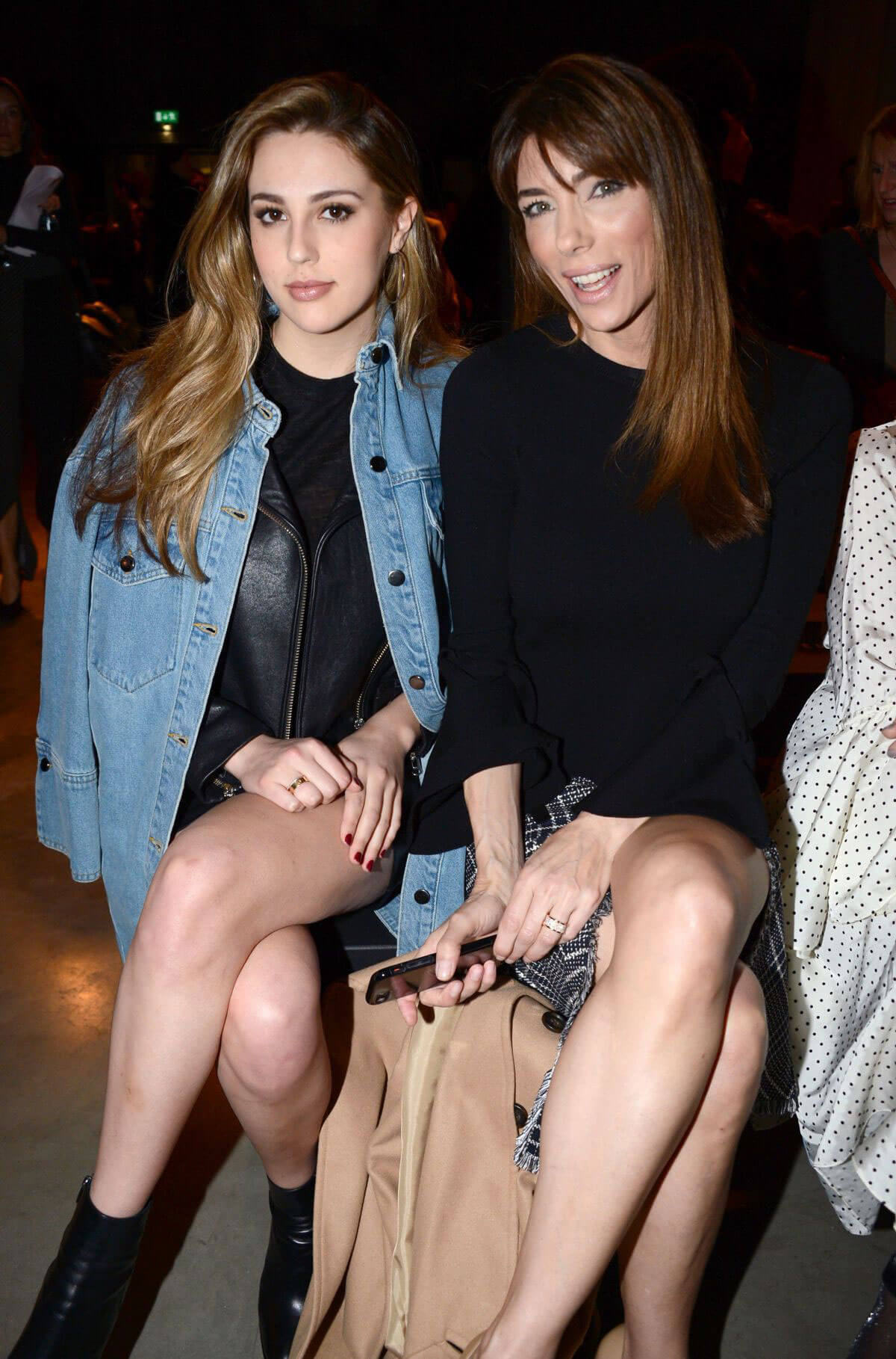 Sophia Rose Stallone and Jennifer Flavin Stills at Topshop Unique Show in London