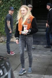 Sophie Turner at Alfred's Coffe in West Hollywood