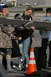 Sophie Turner Out in Beverly Hills and Boarding a Private Jet