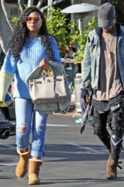 Taraji P. Henson Out for Christmas Shopping in West Hollywood