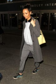 Thandie Newton Stills at Los Angeles International Airport