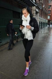 Toni Garrn Stills Out and About in New York