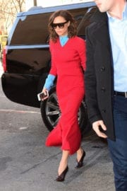 Victoria Beckham Arrives Back to Her Hotel in New York