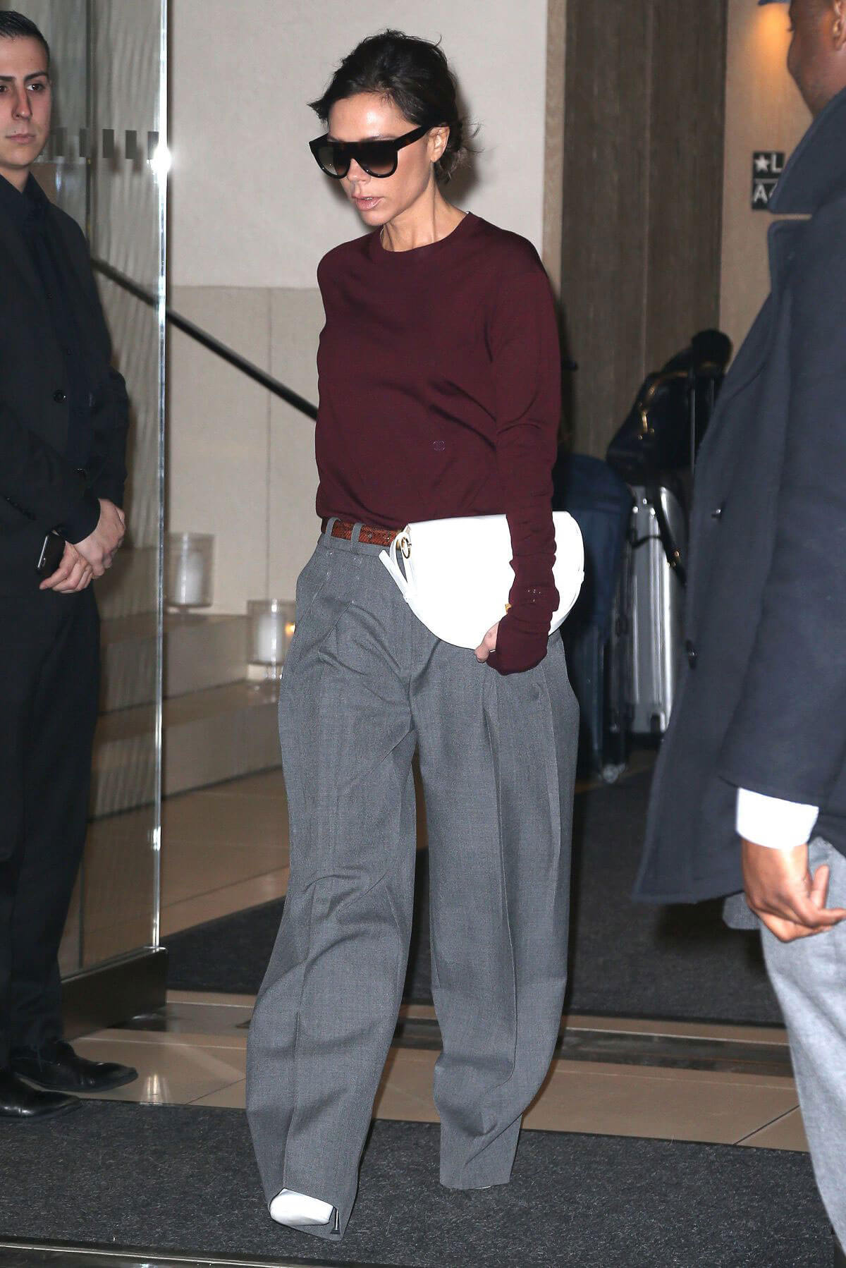 Victoria Beckham Leaves Her Hotel in New York