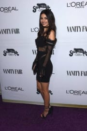 Victoria Justice Stills at Vanity Fair and L'Oreal Paris Toast to Young Hollywood