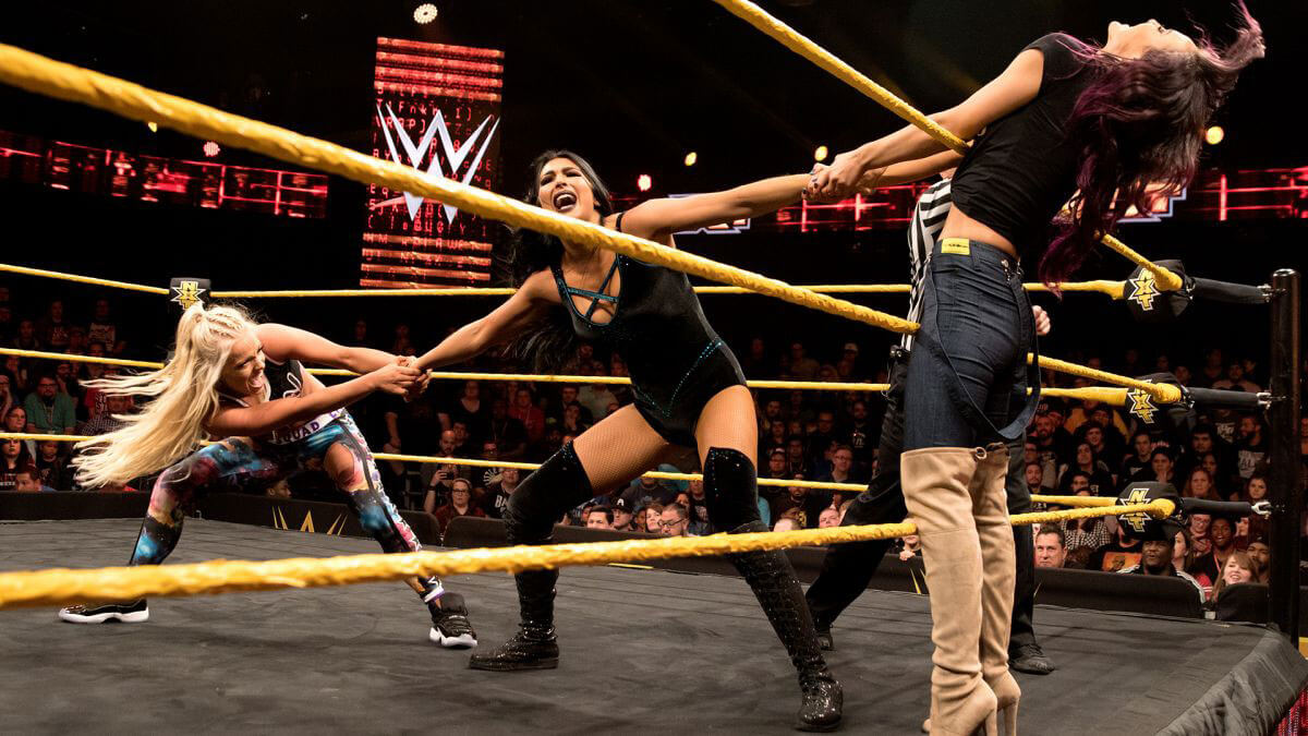 WWE NXT - Killian Dain, Liv Morgan vs. Billie Kay Feb 08, 2017 Photos