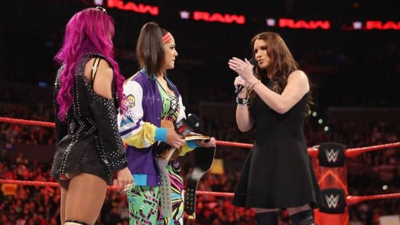 WWE Raw - Bayley, Charlotte Flair & Stephanie McMahon Photos
