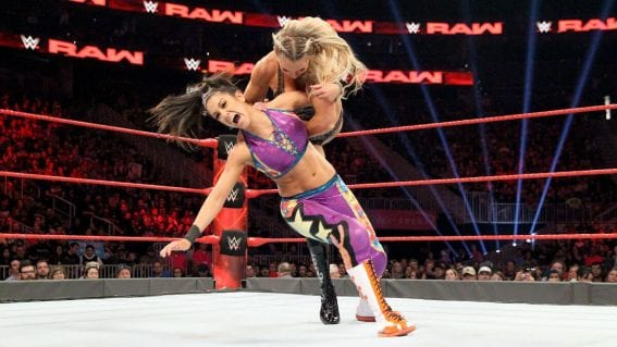 WWE Raw - Bayley vs. Charlotte Flair (Raw Women's Championship Match)