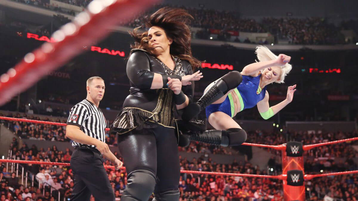 WWE RAW - Nia Jax vs. Sarah Pierce Photos